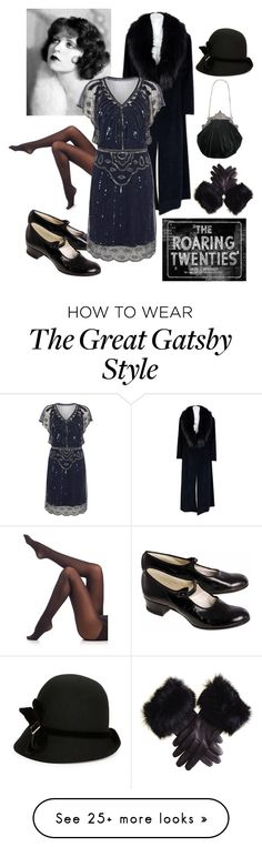 """""""The Roaring Twenties"""" by gunshotmary on Polyvore featuring SPANX, Giovannio, 1920, Flapper and historic"""