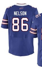 "$78.00--David Nelson Jersey - Elite Blue Home Nike Stitched Buffalo Bills #86 Jersey,Free Shipping! Buy it now:click on the picture, than click on ""visit aliexpress.com"" In the new page."