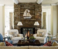 Like the stone on the fireplace