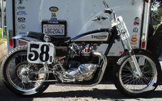 triumph motorcycles   1965 Triumph 750, dirt tracker. (Black/Silver) SOLD