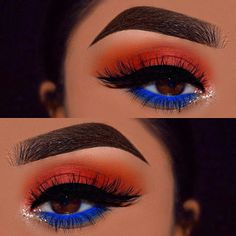 Gorgeous Makeup: Tips and Tricks With Eye Makeup and Eyeshadow – Makeup Design Ideas Makeup Eye Looks, Blue Eye Makeup, Cute Makeup, Gorgeous Makeup, Pretty Makeup, Skin Makeup, Makeup Eyeshadow, Easy Makeup, Yellow Eyeshadow