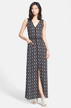 A.L.C. 'Jesse' Print Silk Maxi Dress available at #Nordstrom