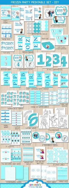 Frozen Birthday Party Decorations, Frozen Party Printable, F… – Birthday Ideas Frozen Birthday Party, Frozen Party Favors, Olaf Birthday, Frozen Party Decorations, Frozen Theme Party, 4th Birthday Parties, Birthday Party Decorations, Centerpiece Decorations, 5th Birthday