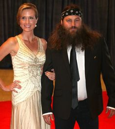 Check out Willie Robertson and Korie at the White House Correspondents Dinner.   Looking lovely as always!
