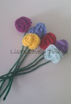 Crochet Roses - set of 6 - The Supermums Craft Fair