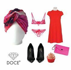 Outfit perfecto para sentirse hermosa y sexy. Tocado Bárbara Furia Floral. #cancer #fashion #turban #turbante