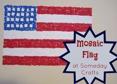 Someday Crafts: Kid's Mosaic American Flag