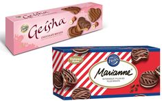 Geisha suklaasydän keksit ja Marianne Täytekeksit Butterfly Cookies, Alex And Ani Charms, Geisha, Biscuits, Charmed, Drinks, Jewelry, Food, Crack Crackers