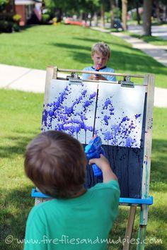 Une activité de peinture parfaite pour l'été! Une activité que les enfants vont adorer! - Brico enfant - Trucs et Bricolages