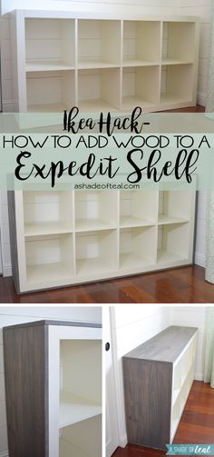 How to add Wood to a IKEA Expedit Cube Shelf | A Shade Of Teal