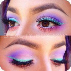 макияж в сине-голубых тонах