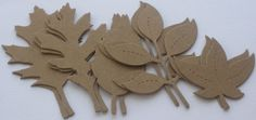 10 ASSORTED LEAVES - Leaf Foilage -  Bare CHiPBOARD Die Cuts