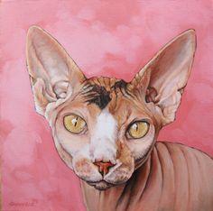 """Juju"" sphynx cat portrait  www.alinakremer.com"