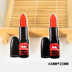 50pcs 46*20MM Women Cosmetic Red Lipstick Resin Flatback Kawaii Planar Resin Craft for DIY Home Decoration Accessories DL-618