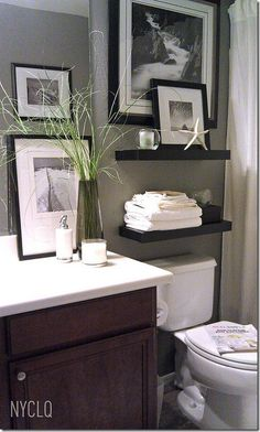 Decorating Ideas for That Wall Behind the Loo • Kelly Bernier Designs