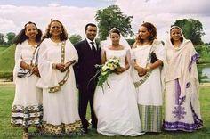 Eritrean bride and groom