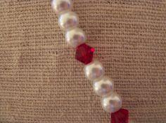 White Necklace  Red Necklace  Heart Pendant by LimeysTreasureChest, $30.00    #handmade #women #modern #regancy #treasure #chest #jewelry #necklace #glass #white #red #heart #fashion #fashionista #pearl #crystal #gift #valentines #bridal #prom #birthday #etsy