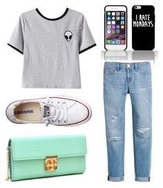 """Fun Fridays "" by tayjayne8 on Polyvore featuring Chicnova Fashion, White House Black Market, Converse and Dasein"