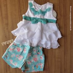 Gabriela Aquarela Kids Outfits Girls, Toddler Girl Outfits, Girls Dresses, Summer Dresses, Little Fashion, Baby Girl Fashion, Baby Boy Dress, Baby Dress Patterns, Clothes Crafts