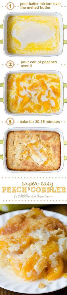Just Cake: Super Easy Peach Cobbler