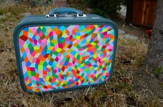 Vintage suitcase color.
