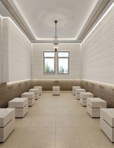 Leicester Modern Islamic Mosque Interior Design - Leicester - All For Decorations Bathroom Design Software, Modern Bathroom Design, Bathroom Interior Design, Modern Interior Design, Bathroom Designs, Mosque Architecture, Modern Architecture House, Interior Architecture, Diy Interior