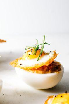 Spicy Korean Deviled Eggs   www.iamafoodblog.com
