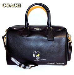COACH X Peanuts SNOOPY & WOODSTOCK Limited Edition Black Satchel Bag NWT | eBay