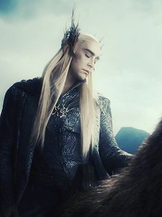 Thranduil.  'Thranduil was the forest entire, grounded in the heart of the world, touching the arc of the sun, holding storms in his lofty heights. He was the Wood.'  http://myzlshen.tumblr.com/post/44364555292/god-help-my-heart-and-my-soul