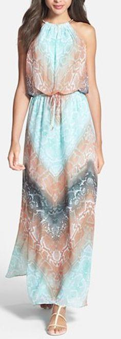#mint chiffon blouson maxi dress http://rstyle.me/n/hvj7zr9te