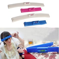 Beauty Clipper Fringe Hair Cutting Level Bangs Clipper Tool Guide for Layers
