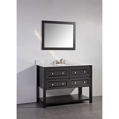 """Check out the Vanity Art WA7748 48"""" Solid Wood Sink Vanity with Mirror - Countertop Included priced at $922.60 at Homeclick.com."""