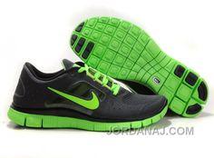 http://www.jordanaj.com/nike-free-50-v4-running-shoes-black-green.html NIKE FREE 5.0 V4 RUNNING SHOES BLACK GREEN Only $56.00 , Free Shipping!
