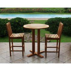 Crestwood Garden Collection 3-piece Teak High Bistro Set by Crestwood. $880.00
