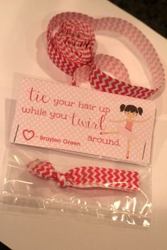 Creaseless hair tie Valentine printable and tutorial