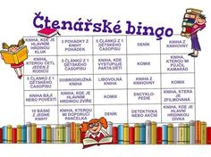 Čtení a čtenářský deník jinak. Prostě čtenářské bingo. Princip viz http://goo.gl/MmaieO
