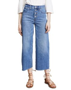 4e33fa88f507 Madewell Wide-Leg Crop Jeans  Button-Front Edition Jeans Button