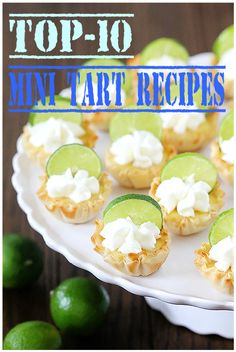 1- Roasted Grape and Rosemary Savory Goat Cheese Mini Tarts by tasty-yummies tasty-yummies.com Recipe Here 2- Cranberry-Orange Spice Mini Tarts by freepeople blog.freepeople.com Recipe Here 3- Apple Tarts by bakersroyale www.bakersroyale.com Recipe Here 4- Mini Chocolate Tarts with Chocolate Chip Cookie Crust by theblondebuckeye theblondebuckeye.com Recipe Here 5- Lemon Tarts and Chocolate Tarts by door2mykitchen door2mykitchen.com Recipe Here 6- Mini Salted Caramel Chocolate Pies…