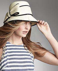 8e2acda3648 Asymmetric Fancy Bow Straw Hat from Kate Spade NY