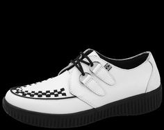 White Leather T.U.K. VIVA Creepers™ - T.U.K. Shoes | T.U.K. Shoes