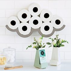 Look what I found at UncommonGoods: Cloudy Day Toilet Paper Storage for $99.00