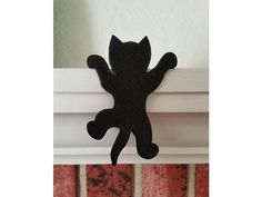 Your place to buy and sell all things handmade - kece midelleri - Hanging Kitten Silhouette - Woodworking Patterns, Woodworking Projects, Youtube Woodworking, Woodworking Techniques, Woodworking Bench, Cat Crafts, Paper Crafts, Wood Yard Art, Wood Cat