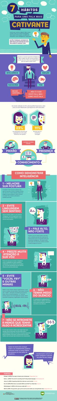 7 Speaking Habits That Will Make You Sound Smarter Infographic - e-Learning Infographics Guter Rat, Public Speaking Tips, Presentation Skills, Presentation Techniques, You Sound, How To Sound Smart, Communication Skills, Effective Communication, Self Development
