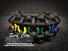 Arc-en-ciel Paracord Hex Nut Bracelet par SurfCityParacord sur Etsy