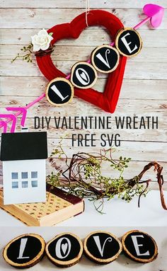 """I love the """"sweater"""" look on this Valentines Day Wreath DIY. Easy DIY comes with a free SVG file to make the project a breeze! My Funny Valentine, Easy Valentine Crafts, Valentine Day Wreaths, Valentines Day Decorations, Pink Crafts, Foam Crafts, Crafts To Make, Valentine's Day Diy, Diy Wreath"""