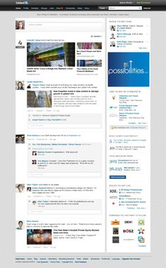 Is LinkedIn's revised homepage design too much like a mashup of Facebook and Google+?