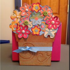 My interpretation of a Mother's Day card (or anytime card) that I pinned a few weeks ago.