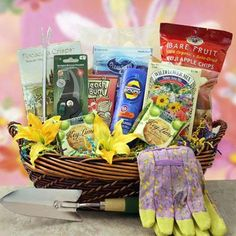 Garden Party Gardening Gift Basket #gardeninggifts