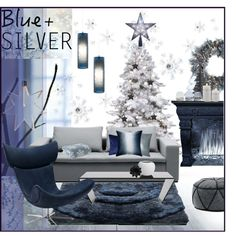 """""""Blue And Silver"""" by szaboesz on Polyvore"""