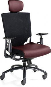Global Ride EXECUTIVE HIGH BACK SYNCHRO KNEE-TILTER with headrest and mesh back, Tungsten frame SKU: 2629-1 Our mission is to produce products of world class design that the average person can afford. Global offers a very broad range of products and services to meet the needs of today's changing workplace. Height adjustable pivot arms. Seat slide control increases seat depth.  Call for more Fabric options Availability: 13 Available Color(s) Pricing: $968.25